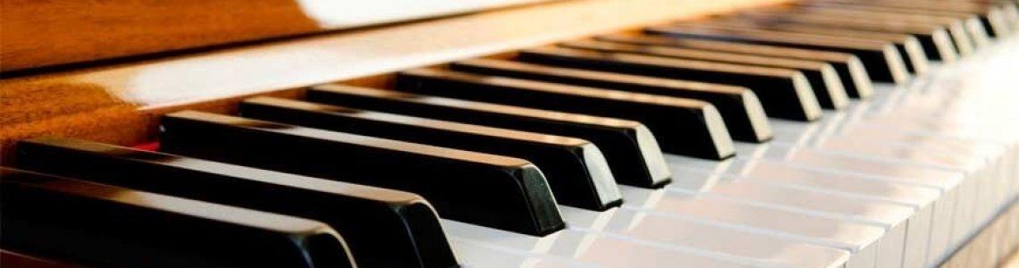 acoustic piano keys